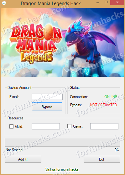 Free Dragon Mania Legends Hack and Cheat Software for Android and