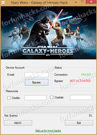 Free Star Wars Galaxy of Heroes Hack and Cheat Software for