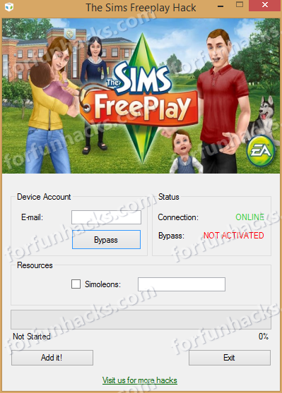 download the sims free play hack